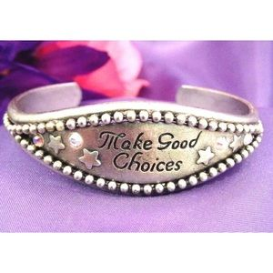 "Kirks Folly Bracelet  ""Make Good Choices"" 7N"